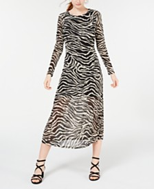 Rosie Harlow Juniors' Mesh Zebra Midi Dress