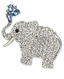 Silver-Tone Crystal Elephant Pin, Created for Macy's
