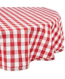 """Checkers Tablecloth 70"""" Round"""