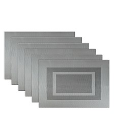 Polyvinyl Chloride Doubleframe Placemat, Set of 6