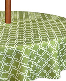 """Lattice Outdoor Tablecloth with Zipper 60"""" Round"""