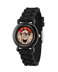 Girl's Disney All About Me Portfolio Tigger Black Plastic Time Teacher Strap Watch 32mm