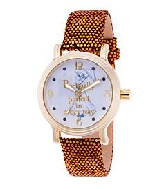 EwatchFactory Women's Disney Mary Poppins Gold Strap Watch 38mm
