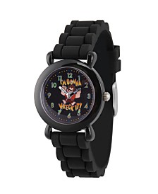EwatchFactory Boy's Disney Ralph Breaks The Internet Wreck-It Ralph Black Plastic Time Teacher Strap Watch 32mm