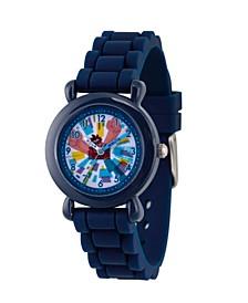 Boy's Disney Ralph Breaks The Internet Wreck-It Ralph Blue Plastic Time Teacher Strap Watch 32mm