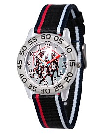 EwatchFactory Boy's Marvel Avengers Endgame Hulk, Captain America, Rocket Raccoon, Iron Man, Nebula, Ant- Man, Black Plastic Time Teacher Strap Watch 32mm