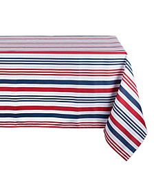 """Patriotic Stripe Outdoor Tablecloth with Zipper 60"""" x 120"""""""
