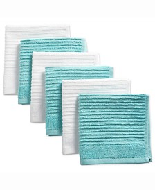 Assorted Ribbed Terry Dishcloth, Set of 6