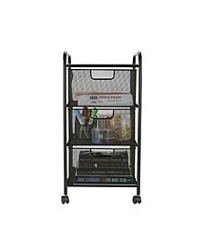 3 Drawer Rolling Storage Utility Cart