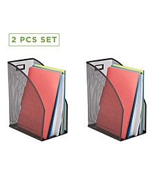 2 Piece Mesh Jumbo Magazine File Holder