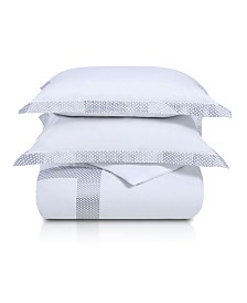 Superior Glenmont 3 Piece Duvet Cover Set - Full/Queen