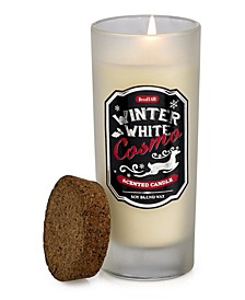 DecoFlair Holiday Cocktail Highball Glass - Winter Cosmo Candle