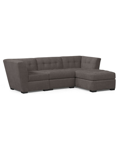 roxanne fabric 3 piece modular sectional sofa furniture
