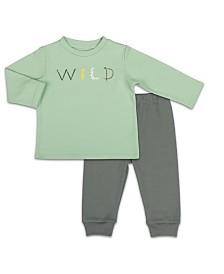 The Peanutshell Baby Unisex Camp Long Sleeve Shirt And Pants Set