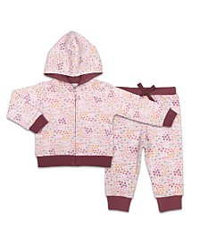 The Peanutshell Baby Girl Hoodie And Jogger Set