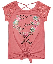 Beautees Big Girls Embellished T-Shirt