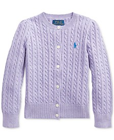 Polo Ralph Lauren Toddler Girls Combed Cotton Cardigan