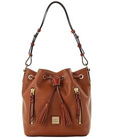 Pebble Leather Cooper Drawstring Bag