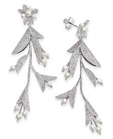 Kate Spade New York Gold-Tone Crystal & Imitation Flower Statement Earrings