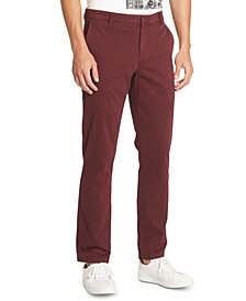 Men's Bedford Slim-Straight Fit Performance Stretch Sateen Pants