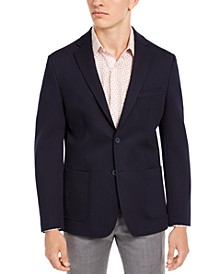 Men's Slim-Fit Navy Knit Sport Coat, Created for Macy's