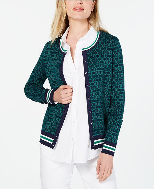 Charter Club Petite Patterned Cardigan, Created for Macy's