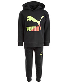 Puma Little Boys 2-Pc. Classic Fleece Hoodie &  Jogger Pants Set