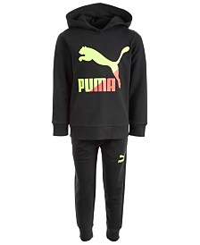 Puma Little Boys 2-Pc. Classic Fleece Hoodie &  Jogger Pants Set