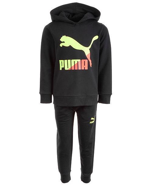 Puma Toddler Boys 2-Pc. Classic Logo-Print Hoodie & Jogger Pants Set