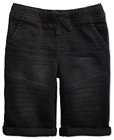Epic Threads Little Boys Stretch Denim Drawstring Moto Shorts, Created for Macy's