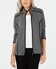 Karen Scott French Terry  Zip-Up Jacket, Created for Macy's