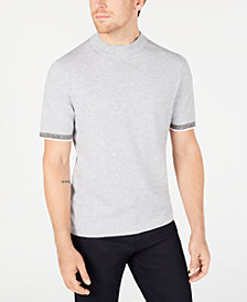 Alfani Men's Short-Sleeve Mock Neck Sweater, Created for Macy's