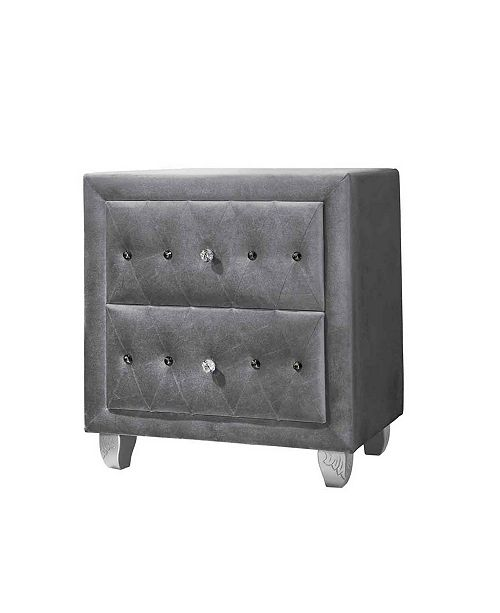 Coaster Home Furnishings Deanna Upholstered 2-Drawer Nightstand