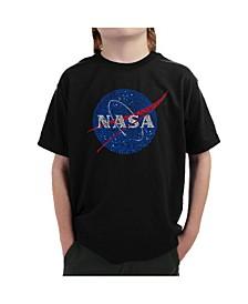 Big Boy's Word Art T-Shirt - NASA's Most Notable Missions