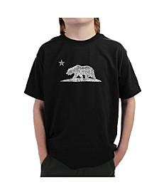 Big Boy's Word Art T-Shirt - California Bear