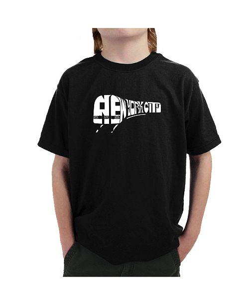 LA Pop Art Big Boy's Word Art T-Shirt - NY Subway