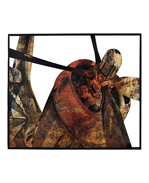 """Moe's Home Collection Rusty Fighter Plane Wall Decor 32.5"""" W x 48.75"""" H"""