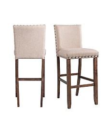 "Picket House Furnishings Dex 30"" Upholstered Bar Stool Set"