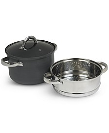 4-Qt. Hard Anodized Aluminum 3-Pc. Multi Cooker