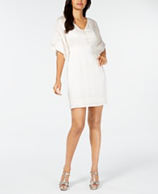 Thalia Sodi Dolman-Sleeve Necklace Mini Dress