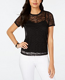 Lace T-Shirt, Created for Macy's