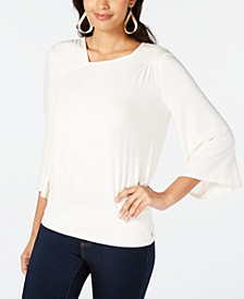 Smocked Flared-Sleeve Top, Created for Macy's