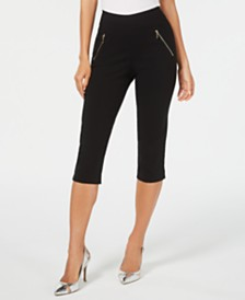 Thalia Sodi Cropped Zip-Trim Pants, Created for Macy's