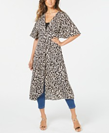Thalia Sodi Animal-Print Duster, Created for Macy's