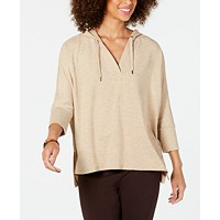 Deals on Style & Co Hoodie 3/4-Sleeve Top