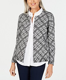 Plaid-Print Cardigan, Created for Macy's