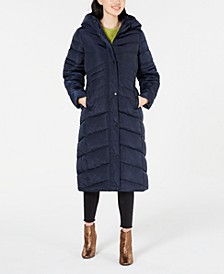 Juniors' Hooded Maxi Puffer Coat