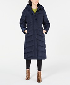 Madden Girl Juniors' Hooded Maxi Puffer Coat