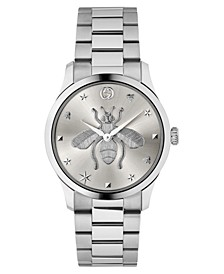 Swiss G-Timeless Stainless Steel Bracelet Watch 38mm, Created for Macy's