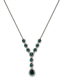 "Crystal & Stone Lariat Necklace, 17"" + 2"" extender, Created for Macy's"